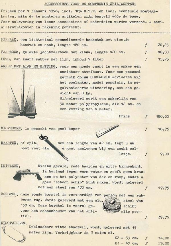 Pricelist Compromis 720 1977 2
